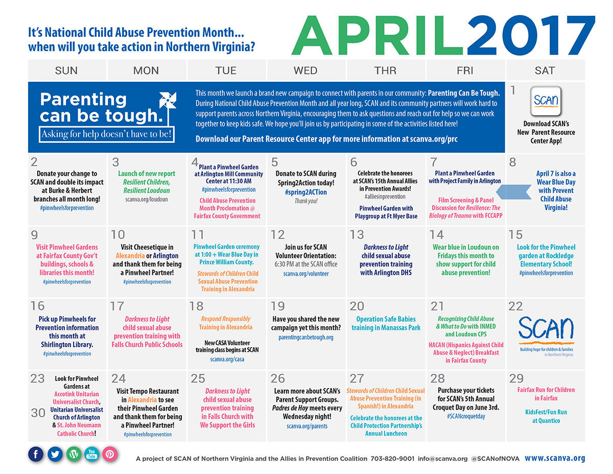 April Calendar Ideas : Ideas to take action this april scan